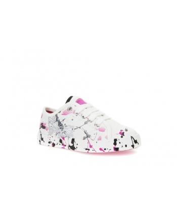 8db702dde07 Детски обувки с принт от GEOX в бяло и цвят фуксия | Secretzone.bg