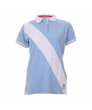 0db230fba27 Синя поло тениска с контрастна бяла ивица от Varsity