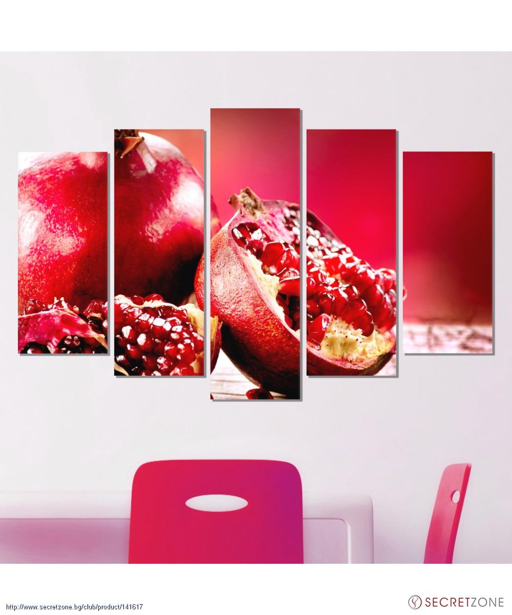 Фото пано за стена с ценен тропически плод в червено от VividHome