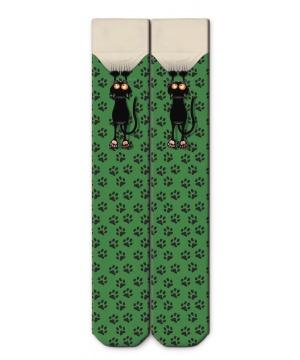 320f57c7334 Дълги дамски чорапи от Ogobongo в зелен нюанс с принт ...