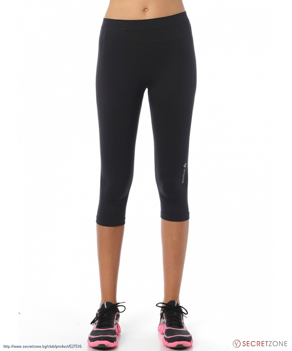 c2799476fcb ... Дамска мода · Клинове; Спортен дамски 3/4 клин в черен цвят от Reebok.  undefined