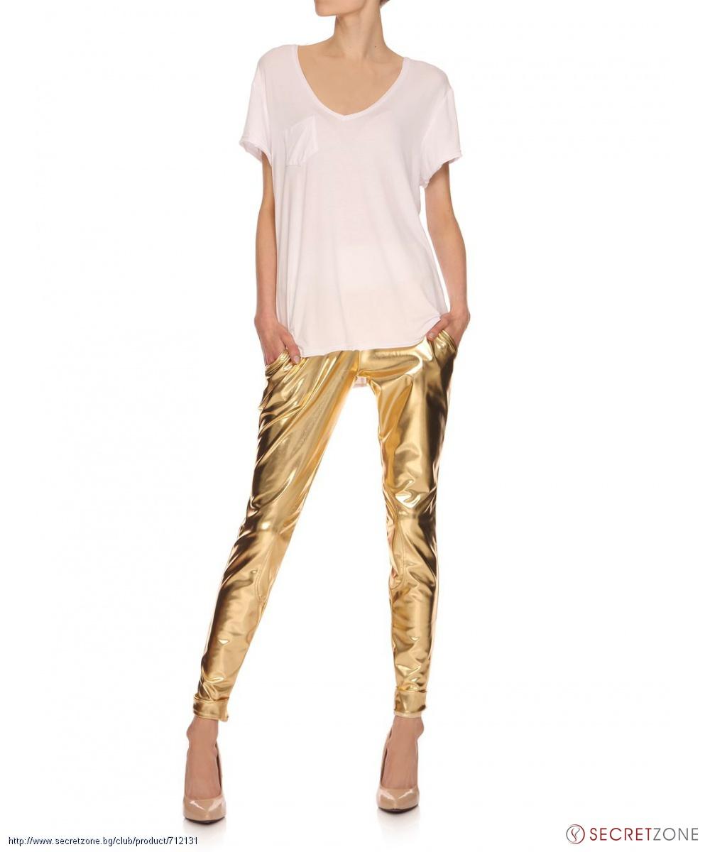 Дълъг панталон в златист цвят от Yuliya Babich