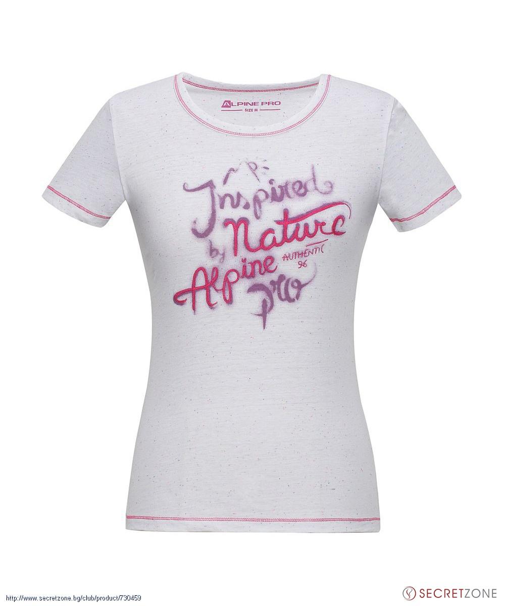 Дамска тениска в бял цвят от Alpine Pro