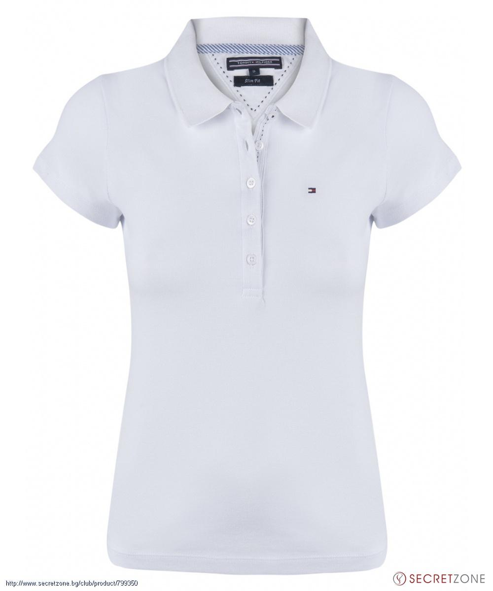 30f1629ee56 Дамска поло тениска в бял цвят от Tommy Hilfiger
