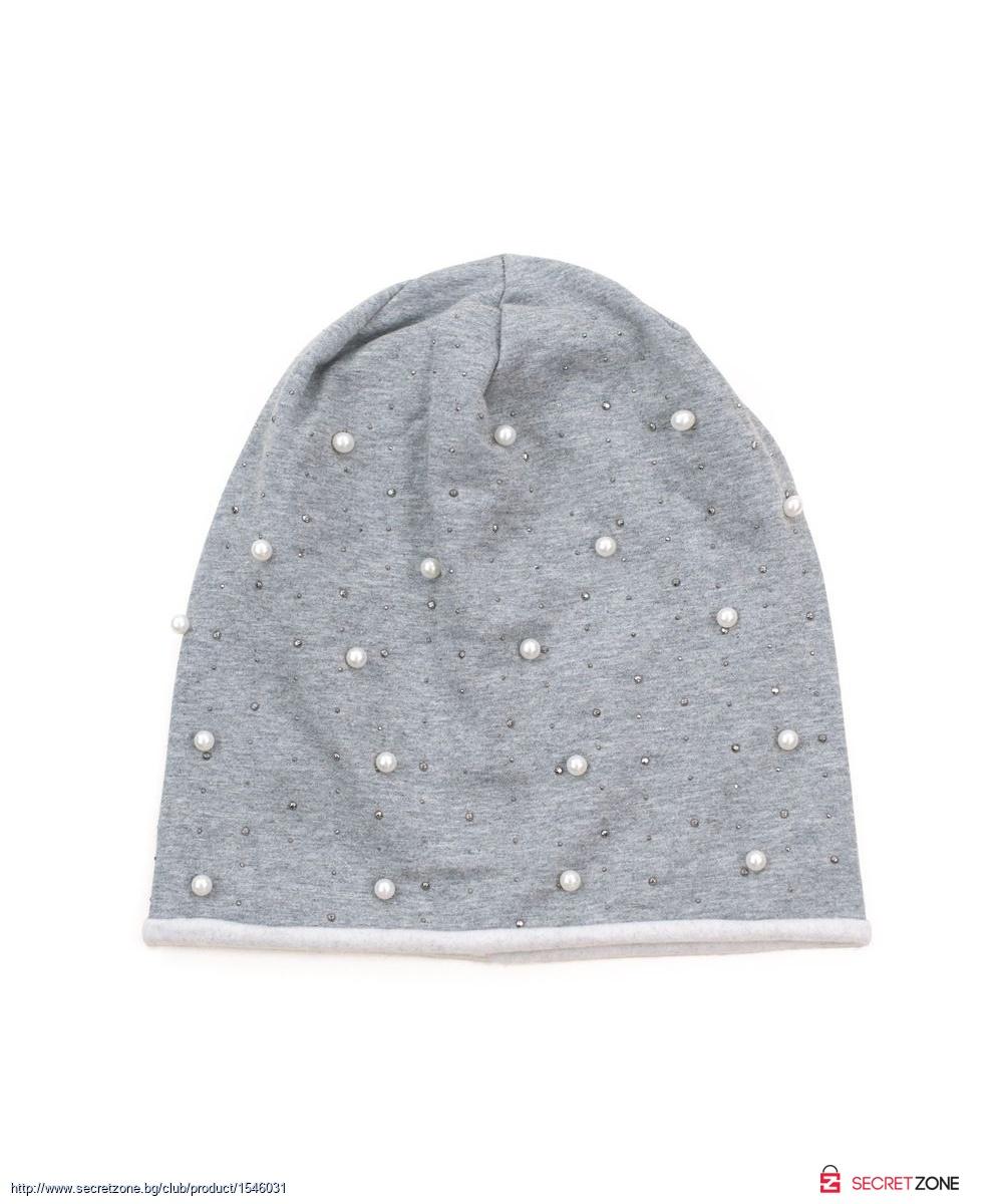 a092a51d965 Дамска шапка в сив цвят с перли от Art of Polo   Secretzone.bg