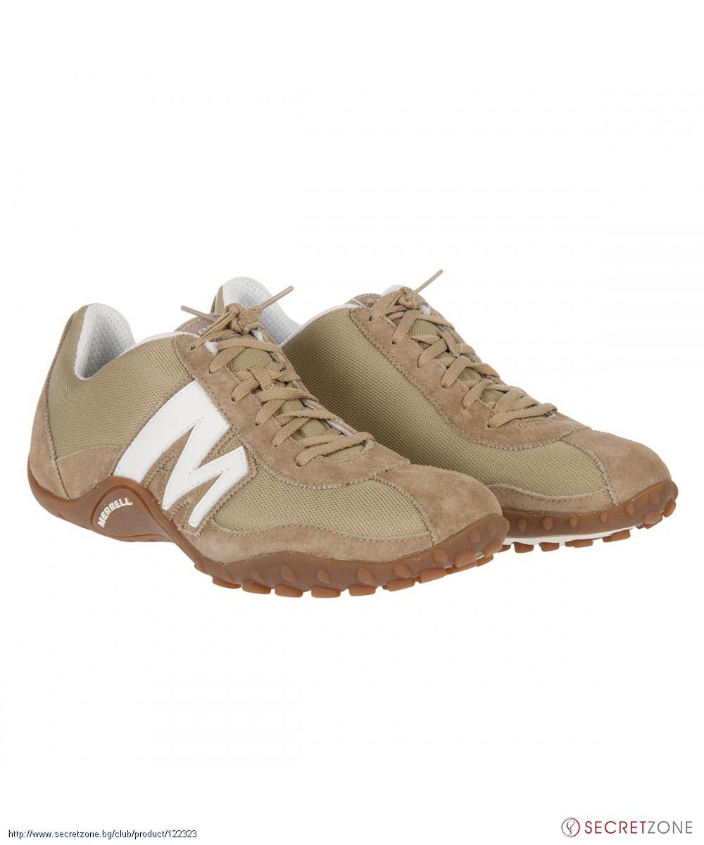 Мъжки спортни обувки от Merrell в бежов и бял цвят  70230d006eb22