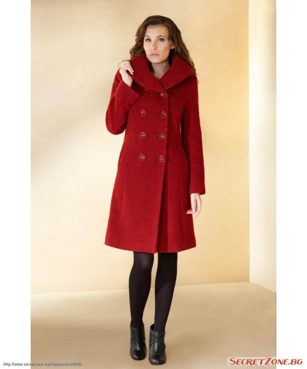 7b0c29f63fe Дамско палто в цвят бордо Matylda | Secretzone.bg
