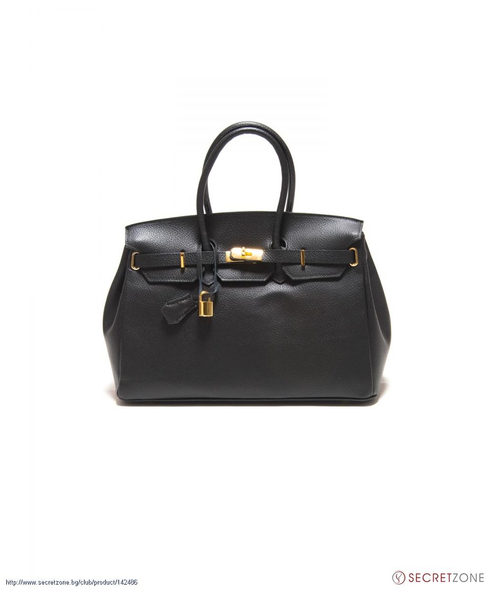 b032fec9a41 Черна дамска чанта Roberta Minelli от естествена кожа | Secretzone.bg