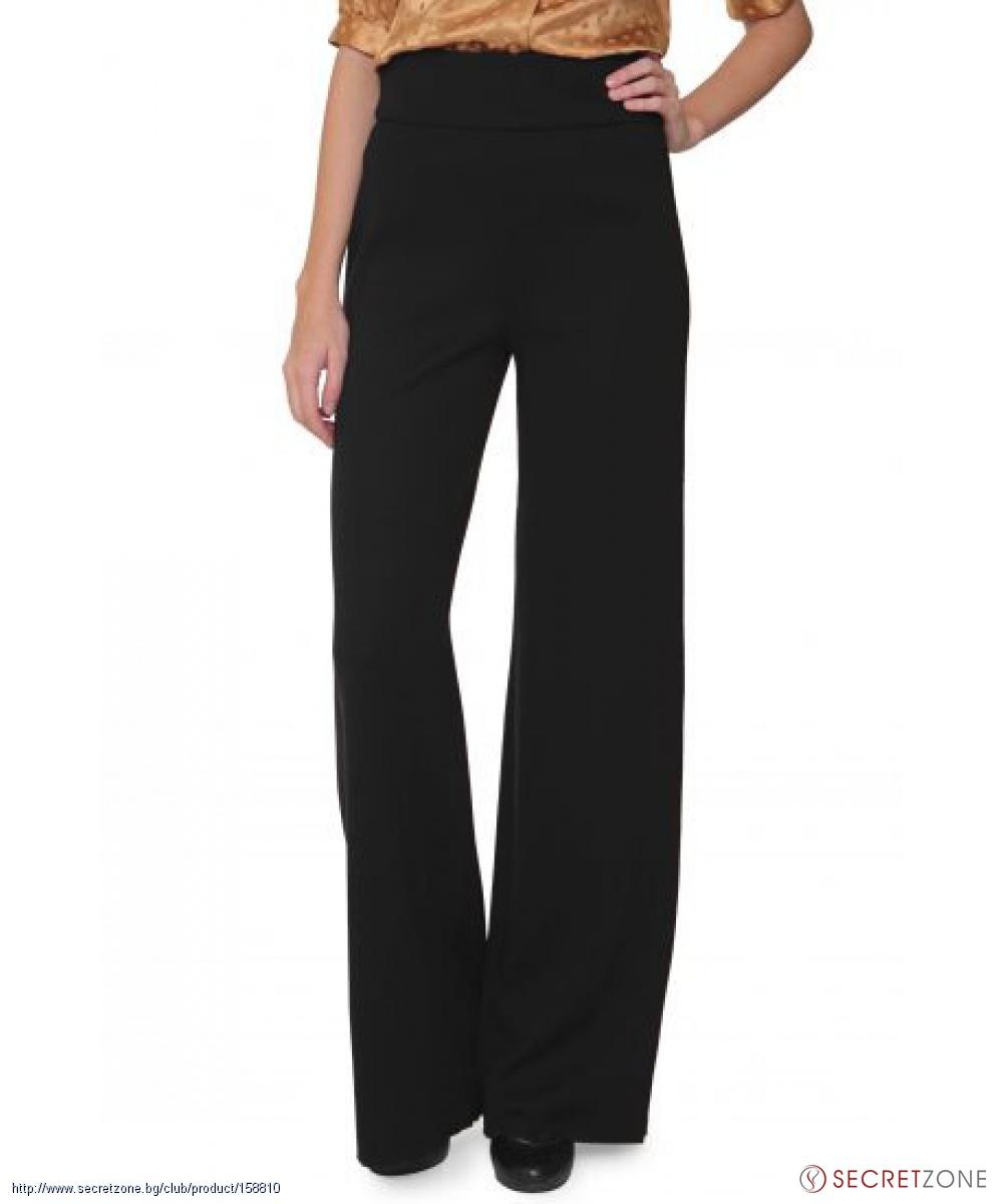 2ffc2a5bd95 Дамски широк панталон в черен цвят с висока талия от Luisa Spagnoli |  Secretzone.bg