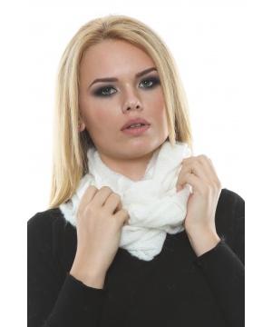 Бял плетен шал тип инфинити от Renata Corsi by Maglificio Araldo ... - 492913_300