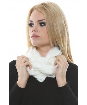 ... Бял плетен шал тип инфинити от Renata Corsi by Maglificio Araldo - 492914_300