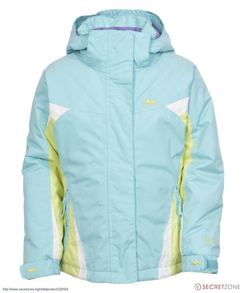 480f69e5cc7 Яке за ски TP50 за момичета в син цвят с контрастни акценти от ...