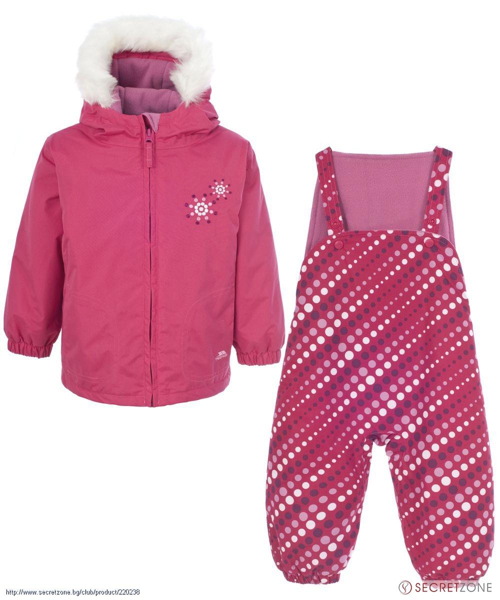 0f46856165f Комплекти; Бебешки ски комплект TP50 в цвят фуксия с оригинален принт от  Trespass. undefined