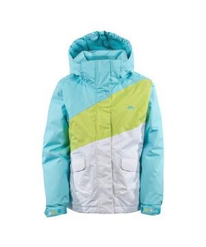 0630942e3f5 Ски яке TP50 с микрофибър от Trespass за момчета в синьо, бяло и зелено ...