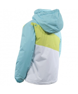 90520a594dc ... Ски яке TP50 с микрофибър от Trespass за момчета в синьо, бяло и зелено