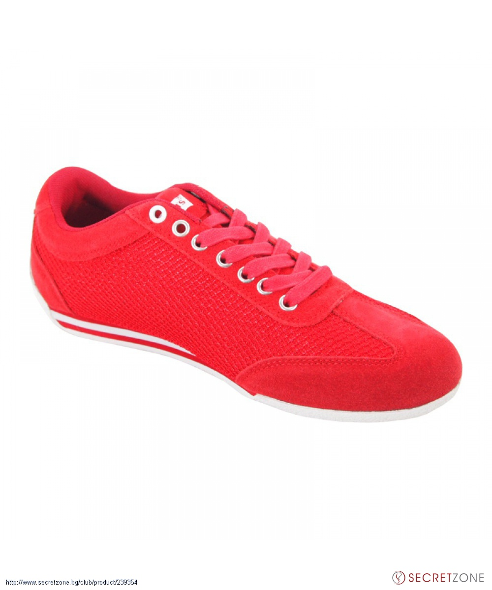 1a7d3c4b1c7 Мъжки обувки Levis в червено с бяла подметка | Secretzone.bg