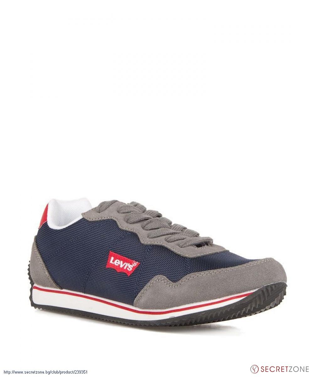 3a6f306c954 Мъжки спортни обувки от Levis в сиво и синьо | Secretzone.bg