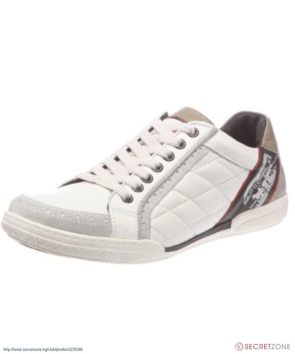 edb8b2fd1ec Бели мъжки обувки Levis с контрастни детайли | Secretzone.bg