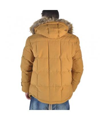 bf5cab5d875 Зимно мъжко яке с качулка в цвят горчица от Camaro | Secretzone.bg