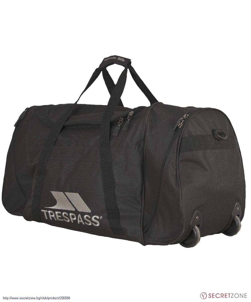 cfa7eef3ddd Сак с колелца (80 литра) в черен цвят от Trespass | Secretzone.bg