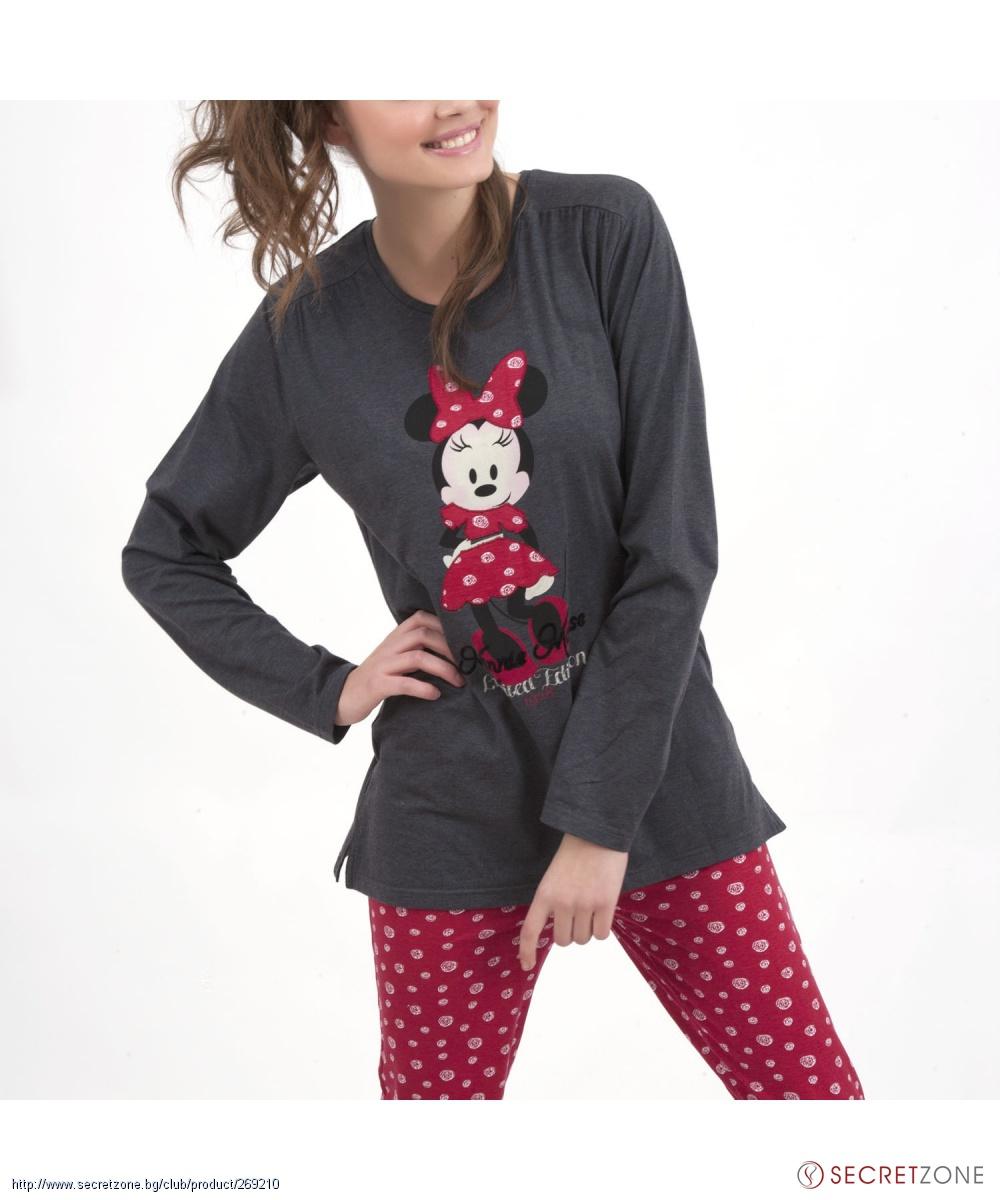 5a8cbeecced Дамска пижама от Disney 28 с Мини Маус | Secretzone.bg