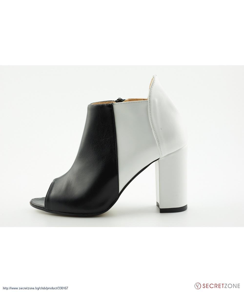 6e046120a4e Високи обувки на ток в черно и бяло с цип от J.FRY | Secretzone.bg