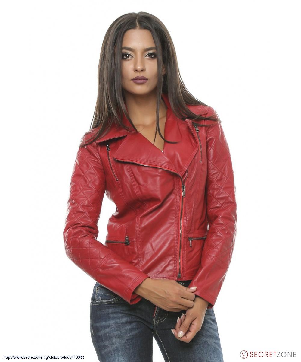 8ca3d2b5dc6 Дамско кожено яке от Renata Corsi в червен цвят | Secretzone.bg