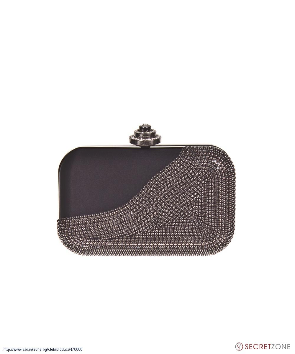 b520e56fd1a Клъчове; Черна клъч чанта с блестящи камъни от 1to3. undefined