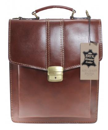 702115ecefd Кафява бизнес чанта Roberta Rossi от естествена кожа | Secretzone.bg