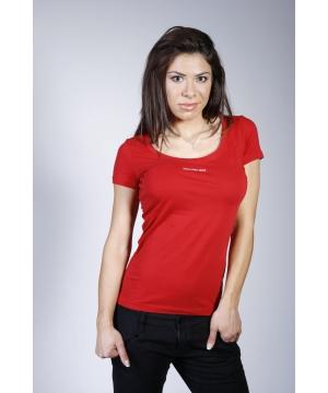 85ad395eb4f Дамска тениска с флорални мотиви и обло деколте | Secretzone.bg