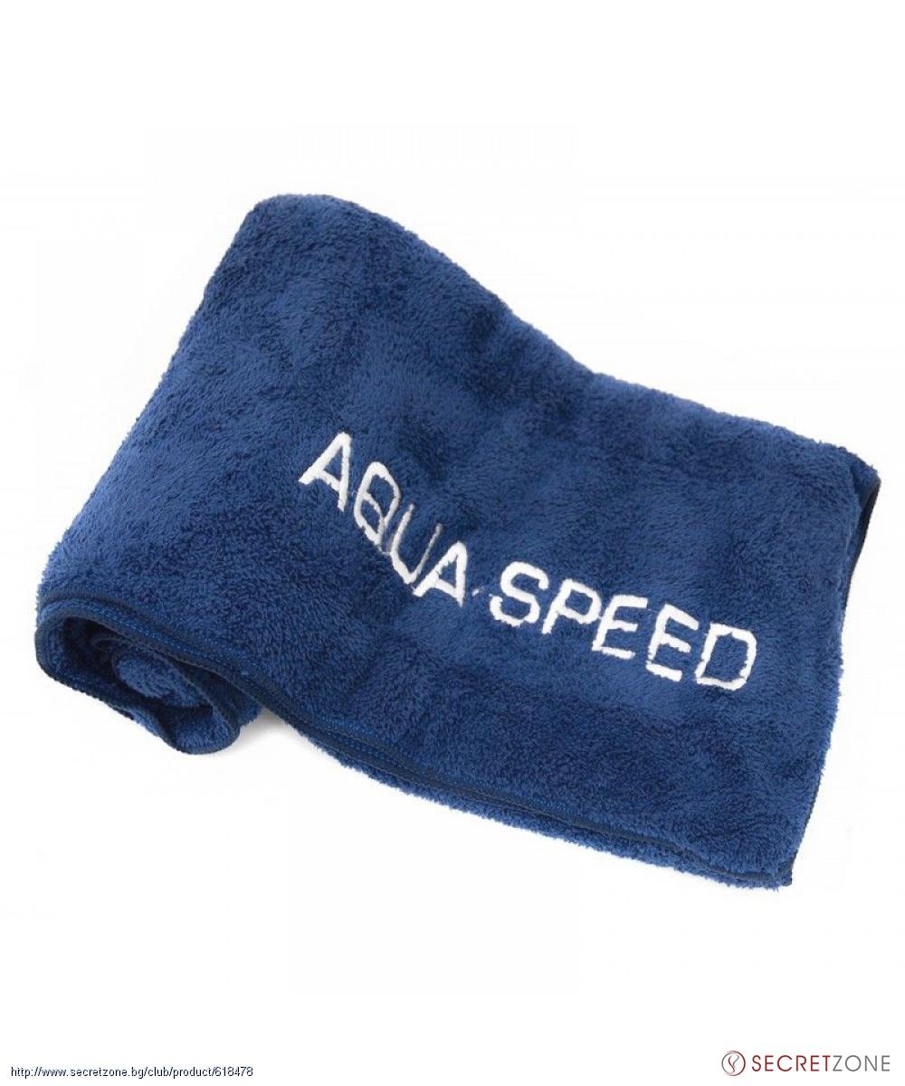 9d0162bc0e8 Кърпа микрофибър в тъмносин цвят от AQUA-SPEED (70 х 140 см ...