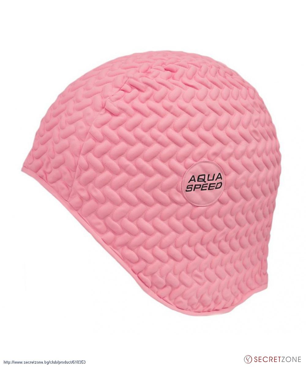 8f28fe5a838 Дамска шапка за плуване в розово от AQUA-SPEED   Secretzone.bg