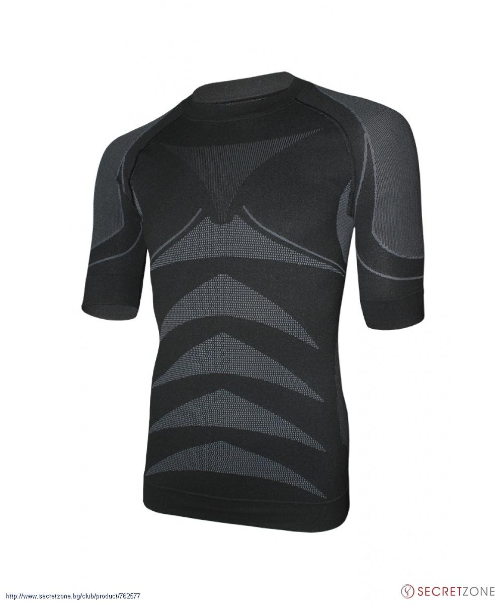 7d0a5b81179 Спортна термо тениска в черен цвят и сиво от Haster | Secretzone.bg