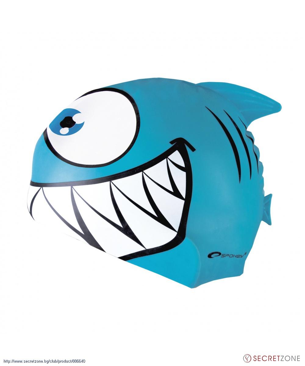 aff63e3e91a Детска шапка за плуване Акула от Spokey   Secretzone.bg