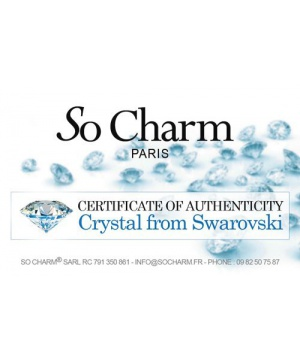 Висулка с кристал Swarovski  от So Charm PARIS в розов нюанс
