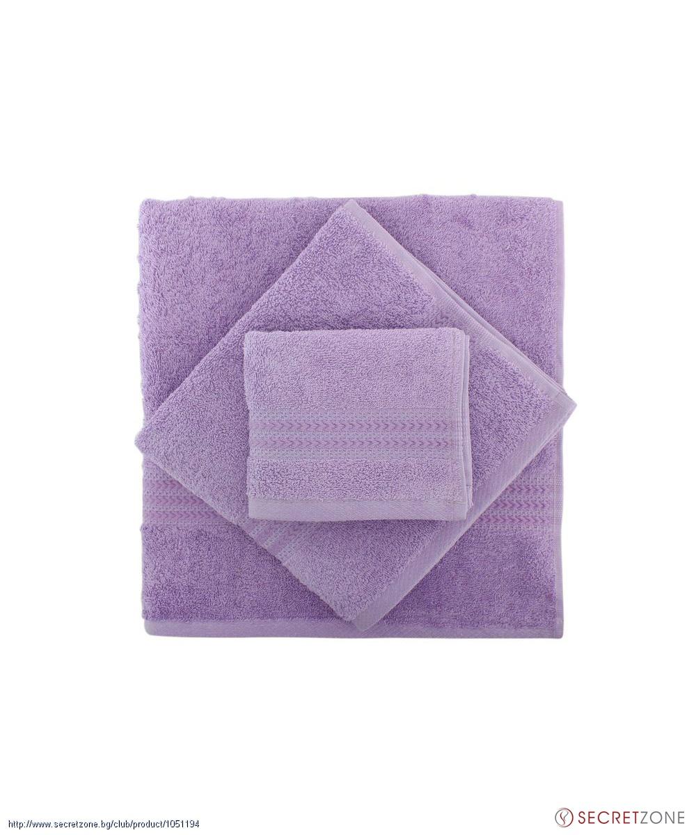 faa6a70c2c1 Хавлии; Комплект хавлиени кърпи 3 броя в лилав нюанс от Hobby. undefined