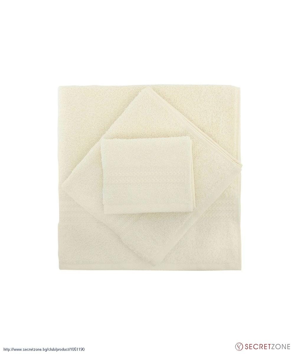 263a2e8eae5 Хавлии; Комплект хавлиени кърпи 3 броя в светъл нюанс от Hobby. undefined