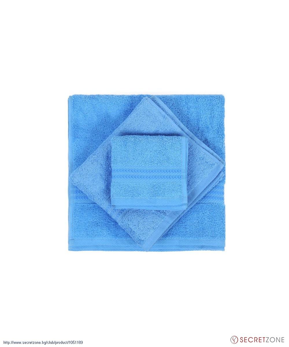 a5140888da9 Комплект хавлиени кърпи 3 броя в син нюанс от Hobby | Secretzone.bg