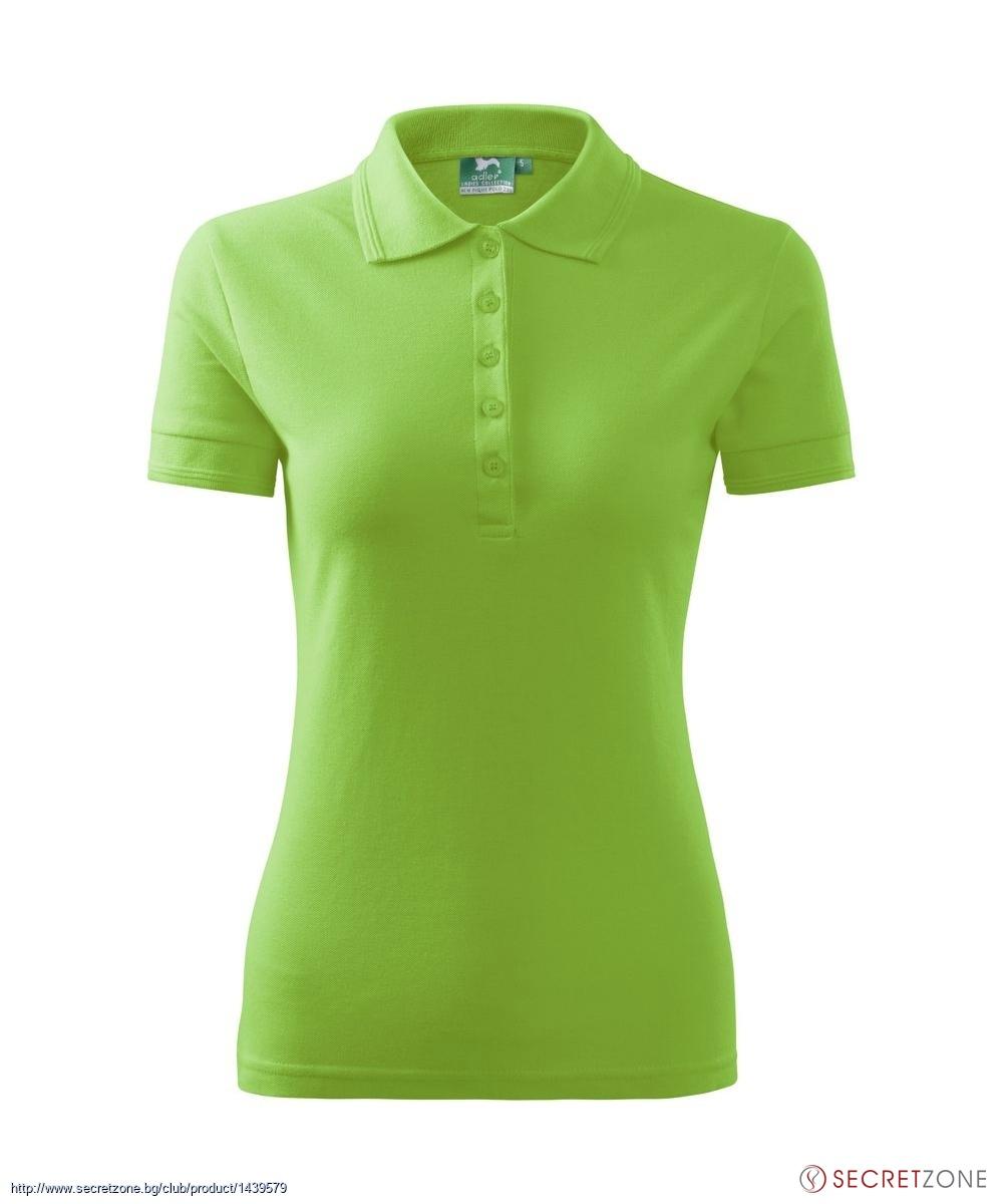 fc2374e0616 ... блузи; Поло тениска в цвят на зелена ябълка от Malfini. undefined